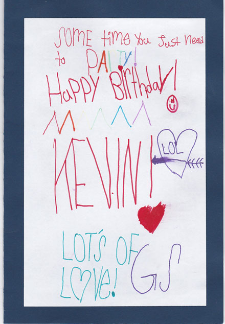 A Birthday Card Made by Volunteers from Roosevelt Island Girl Scouts Troop 3001 for a Homebound Patient – Page 1