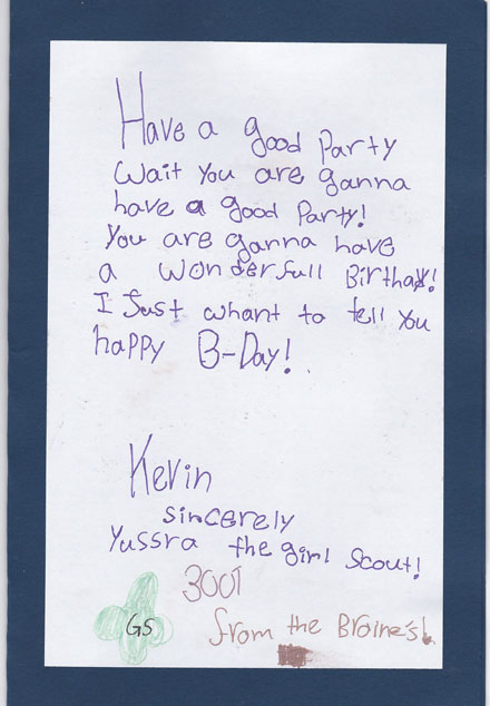 A Birthday Card Made by Volunteers from Roosevelt Island Girl Scouts Troop 3001 for a Homebound Patient – Page 3
